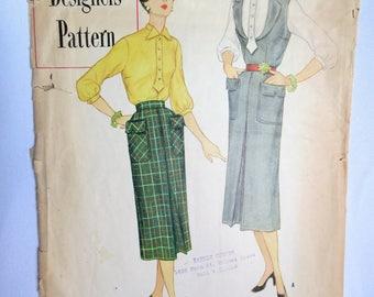 Simplicity Designers Pattern, Vintage Pattern, 40s Pattern, 8295, 40s, Skirt Pattern, Top Pattern, Simplicity, Designer Pattern, 40s Skirt