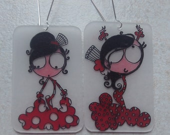 flamenco dancer earrings