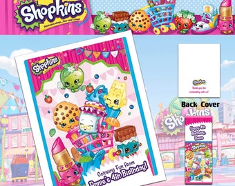 Shopkins Coloring Book with Crayons