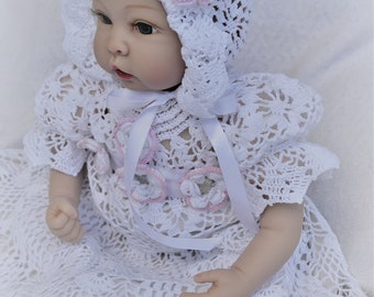 crochet heirloom baby christening bonnet pdf pattern, bonnet pattern, crochet hat pattern, baby bonnet, christening bonnet, christening