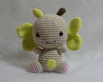 Cuddly plush Ti bonzomme forest crocheted cotton