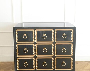 PAIR Of Dorothy Draper Espana Style Chest  Custom Lacquer In Your Color