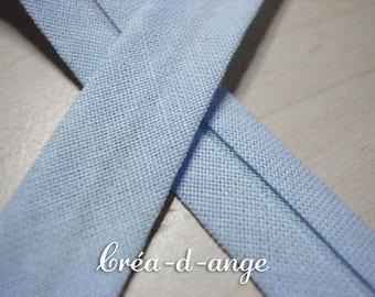 Blue cotton bias light 12mm wide (24 / 12mm) sold by 50cm