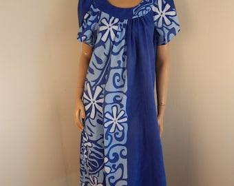vintage hawaiian dress, vintage aloha, muumuu,