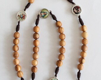 Rosary Our Lady The Seven Sorrows Olive Wood Beads Mater Dolorosa Servite Rosary