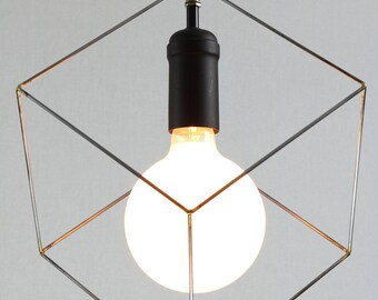 minimalist lighting. Cube Pendant Light, Minimalist Lighting, Square Hanging Modern Black Socket Lighting T