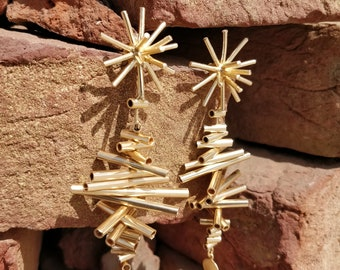The Jewel Basket Gold-Toned Spiked Drop Earrings