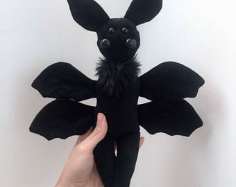 Imogenia the Imp OOAK plush bat devil doll