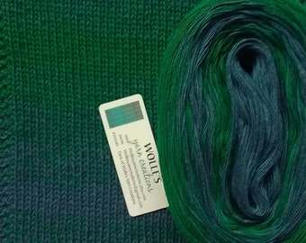 BLUEGRASS STRIPES II -- Color Changing Cotton yarn --  480 yards/100 gr --  Fingering Weight