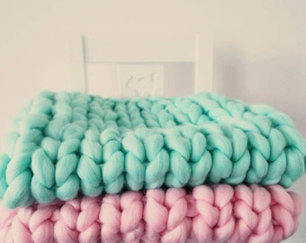Aqua Mint Baby Blanket Photography Prop