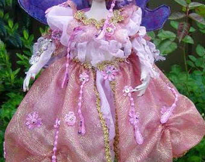 "MM240E – ARWEN, a beautiful Fairy, Height 16"" (40 cm) Tall Cloth Doll Pattern"