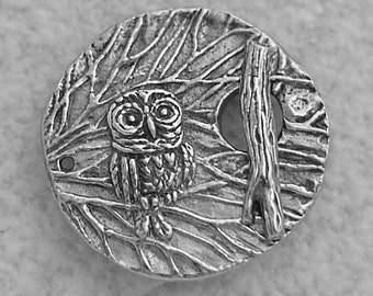 Green Girl Studios Pewter Owl Branch Toggle Clasp