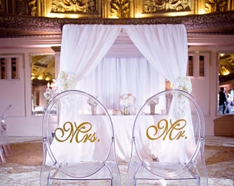Mr and Mrs Ghost Chair Decals