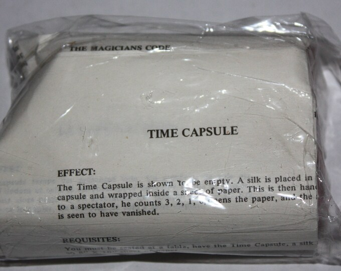 Magic Trick Time Capsule 1970's Vintage RARE Sealed