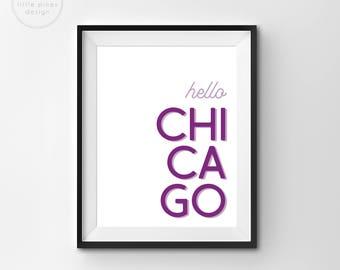 Hello Chicago Print     Digital Illustration