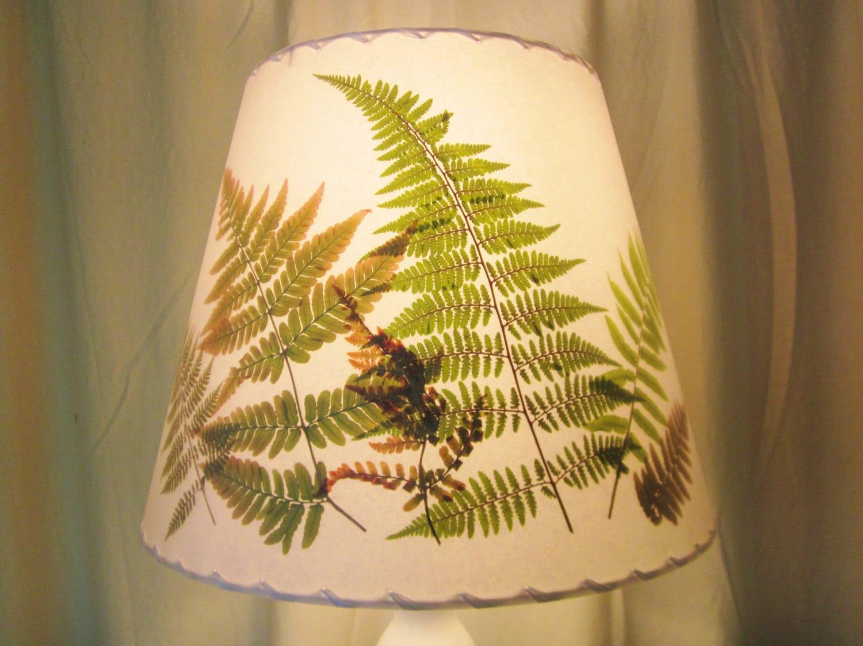 Pressed Fern Lampshade Botanical Lampshade Washer Top Shade