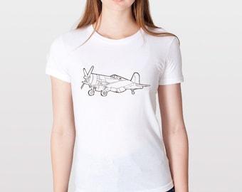 KillerBeeMoto: Chance Vought F4U Corsair Fighter Plane Short & Long Sleeve Shirt Cartoon Version
