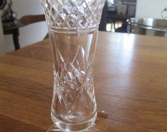 cut glass crystal vase , pedestal vase ref 9