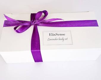 Lavender & Tangerine body set/gift set/ Scrub/ Body butter/ Moisturiser/ Natural/Homemade/100g/Birthday/Mothers day