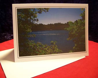 Walden Pond (02) Greeting Card - 5x7 - Blank Inside