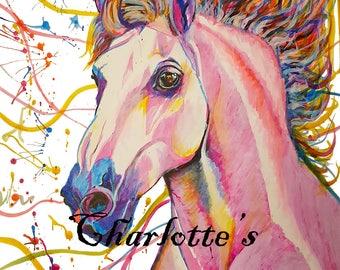 A4 Horse Print