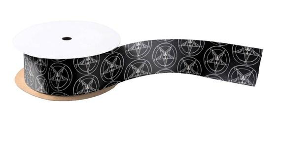 "Baphomet Pentagram Ribbon 1.5"" wide"