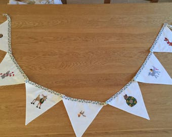 Woodland animal Christmas bunting