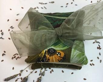 SET OF 3~Organic Lavender & Flax Sachet Set~BOTANICAL~ Bridemaids~Shower Gift~Sachet~Organic~Sachet~Drawer Fresheners~Closet Freshener