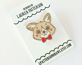 Corgi Lapel Enamel Pin Button Flair
