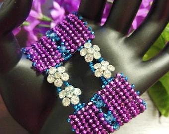 Brilliant, beautiful fuchsia purple bracelet