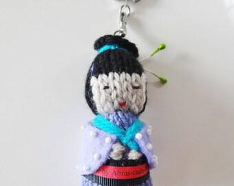 Keychain - bag - gift - bag charm - Kawaii Geisha charm
