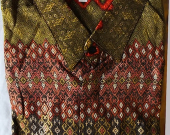 Silk cotton Indonesian batik shirt