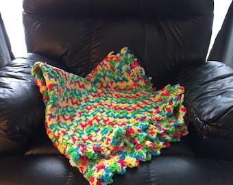 """Bright Boxy Multicolored Blanket-43""""x43"""""""