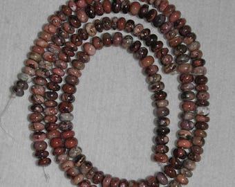 Sugilite Smooth Rondelle 7 mm Semi Precious Bead Natural Stone Rare Africa HALF Strand AdrianasBeads