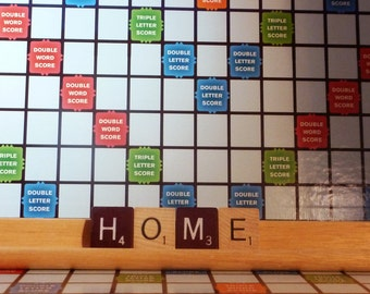 Home Scrabble Sign or Nameplate, Scrabble Home Decor