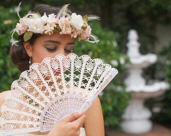 Wedding Lace Fan- Hand Held Fan- Gift for Her- Gift under 50- Lace Hand Fan- Folding Hand Fan- Spanish Wedding Fan- Bridal Fan- Mother Bride