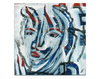 """Picture """"split Personality"""" portrait Abstract"""