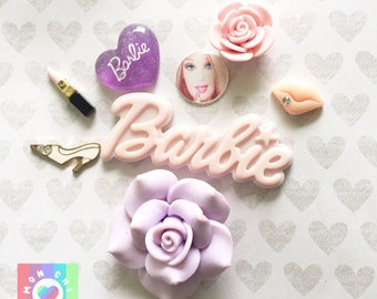 Girly Doll Decoden Resin Cabochon Decoden Mix-8pcs 12mm-45mm Wholesale
