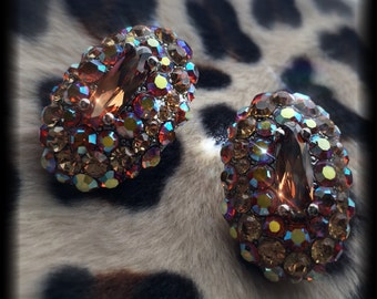 Swarovski Aurora Borealis Crystal Earrings