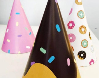 Party Hats Only // Donut Party Theme // Downloadable + Printable