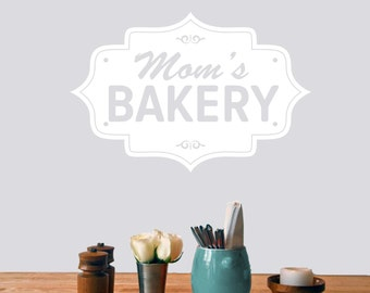 Mom's Bakery - Kitchen Wall Decals