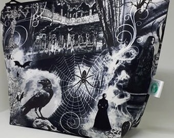 Ravens and Spiders Large Project Bag
