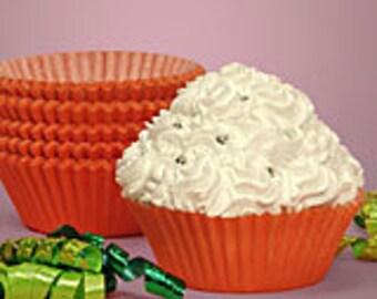50 Bright Orange Standard Cupcake Liners/Cupcake Liners/Orange Cupcake Liners/Orange Cupcake Liners