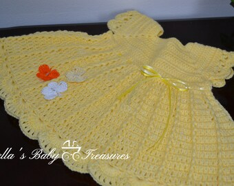 Yellow 3-6 months dress
