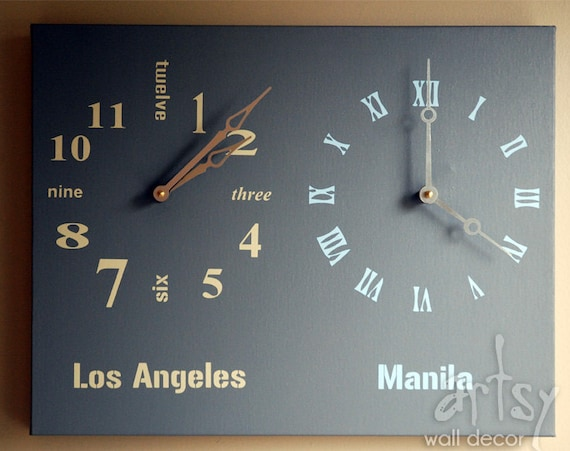Wall Clocks for Sale Multiple Time Zone Wall Clock Two