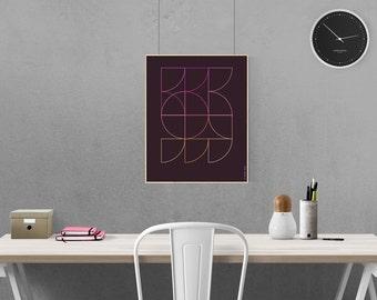 Geometry #4 Modern Geometric Graphic Design Art Print