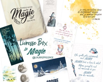 Livresse Box - Edition 1 : Magic - Box with 42 USD of unpublished literary products (posters, cards, bookmarks ...) - Sending December 5th