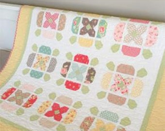 Flower Tile - Quilt Pattern from Carried Away Quilting