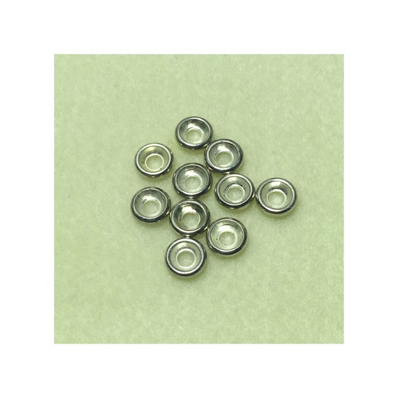 Bright Silver Flat Bead Cap Spacer 9 mm 3 mm Hole 34 Spacers
