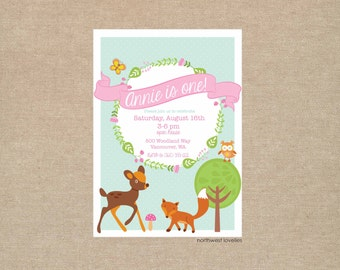 Woodland Animal Party Invitation